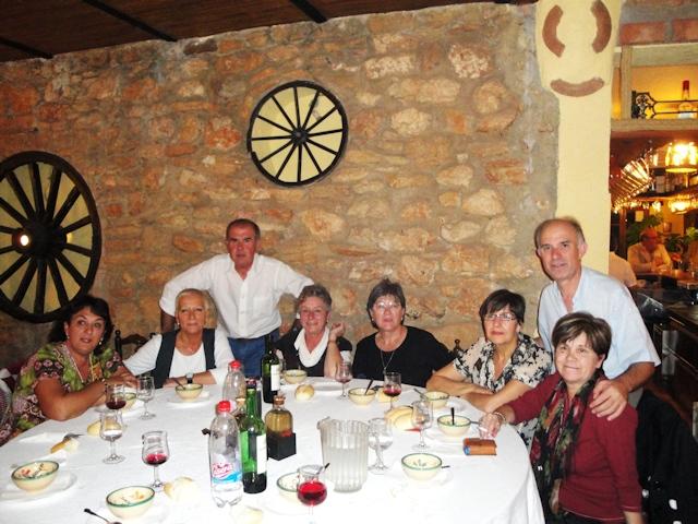 26-10-2009 cenando en un cortijo en Ronda
