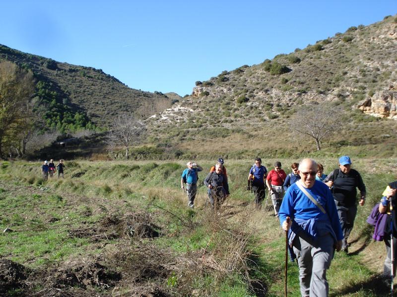Saliendo del cañón del río Val