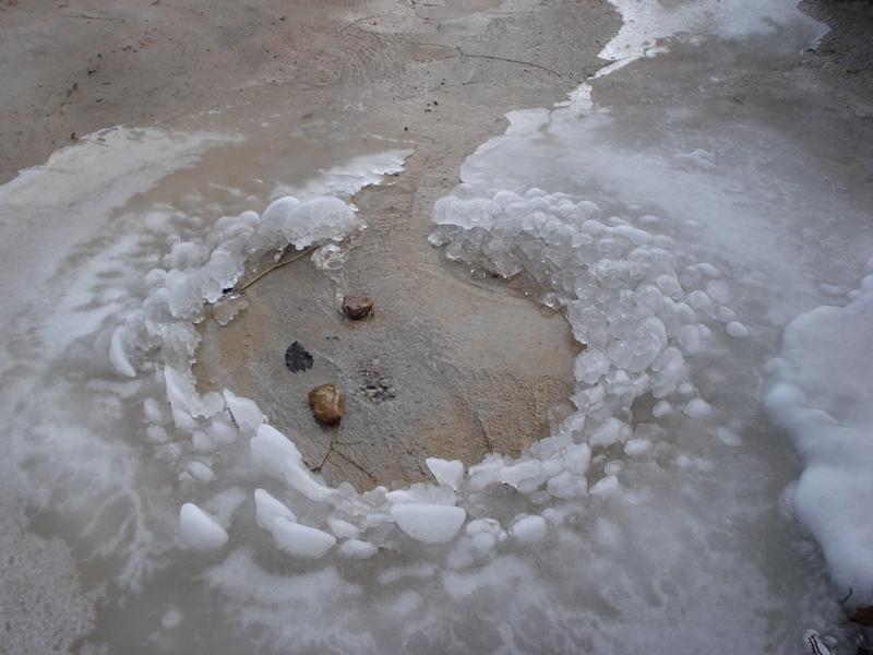 Charco helado en Alarba