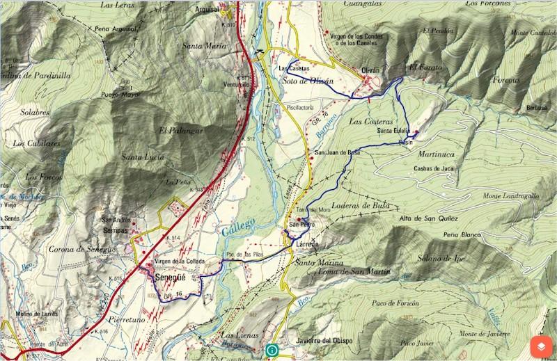 track de la ruta