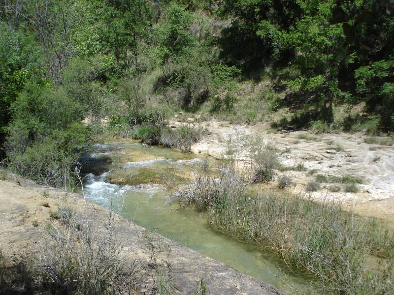 Pozas y badinas en el río Vero