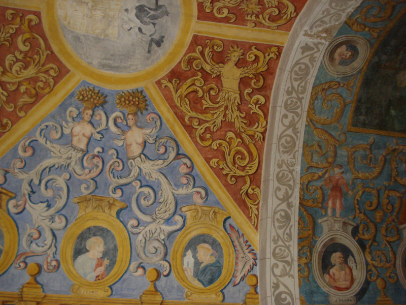 Decoración de las bóvedas de la ermita