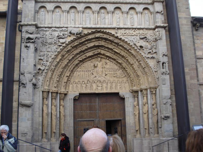 Portada de la iglesia de santa maría la real de Sangüesa